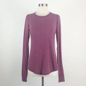 Lululemon | Purple Stripe Karma Long Sleeve Top